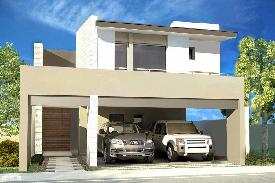 Fachadas de casas modernas diciembre 2013 for Losas para garajes