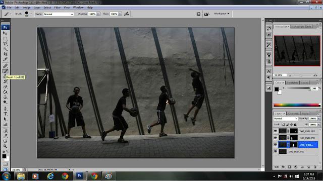 teknik menggabungkan dua gambar, photoshop, editing penggabungan foto, foto banyak