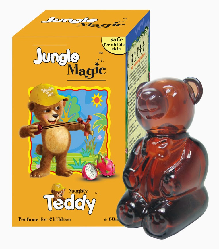 Pefumes For Kids by Jungle Magic - Made Of Essential Oils and Deratologically Tested - Naughty Teddy