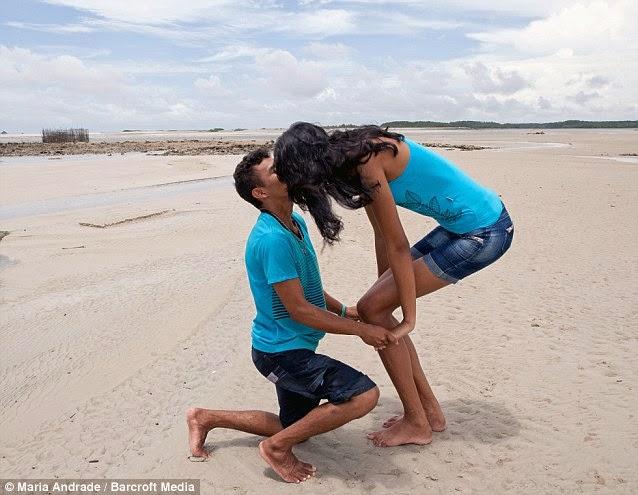 joven mas alta de brasil se casa
