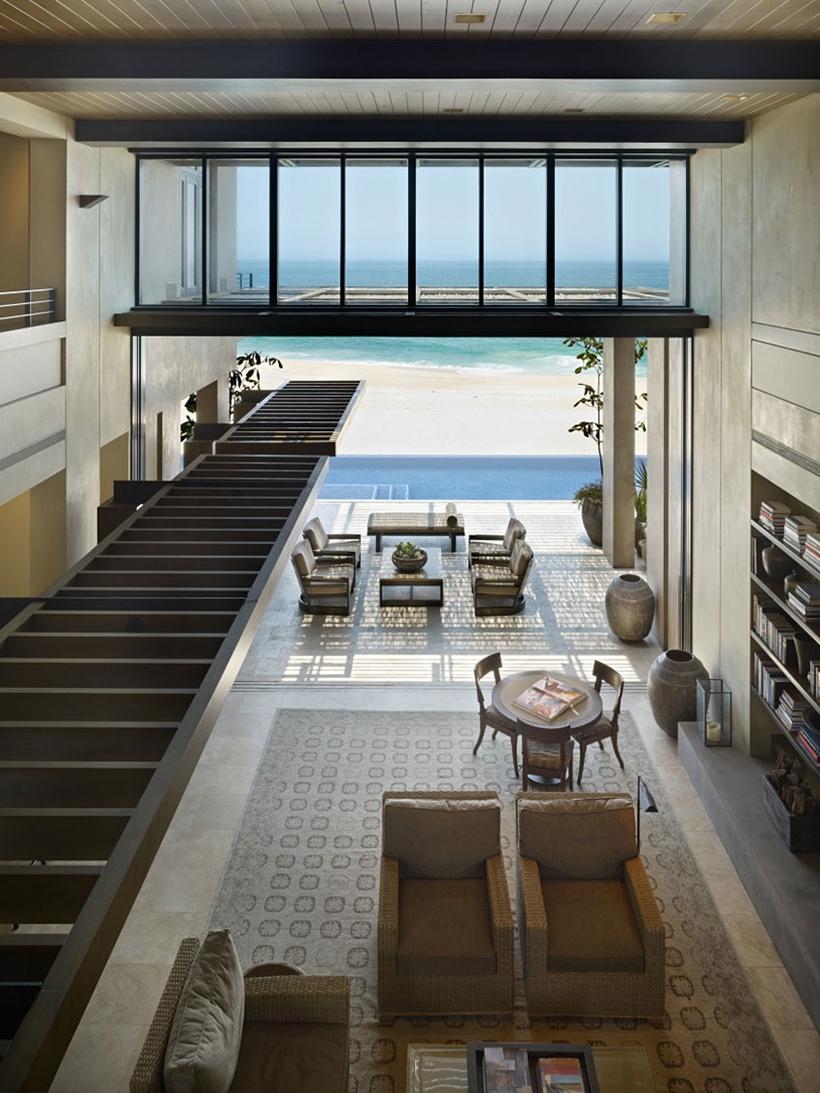 Ground floor of Gorgeous modern stone house on the beach