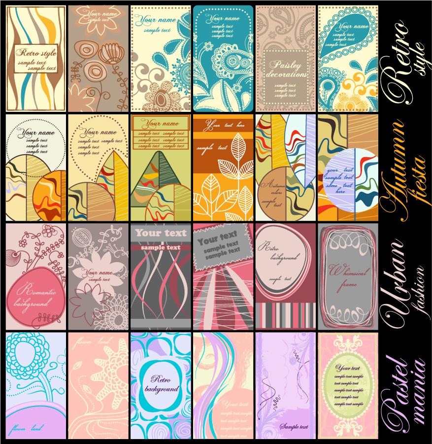 秋をイメージしたカード背景見本 autumn color fashion trend vector イラスト素材