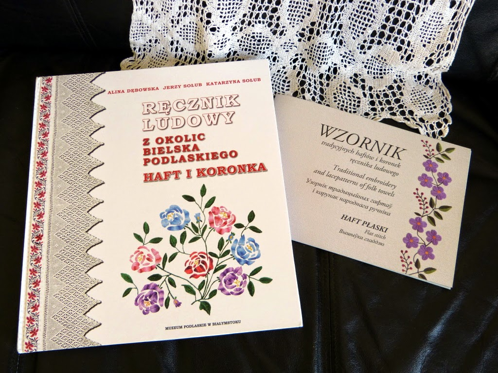 ludowy ręcznik z haftem, ręcznik białostocki, ręczniki z okolic Bielska Podlaskiego,