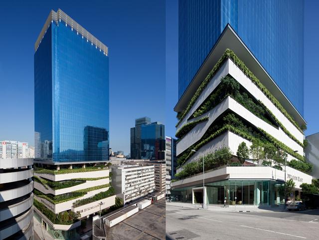 Prédio em Hong Kong tem um incrível terraço verde
