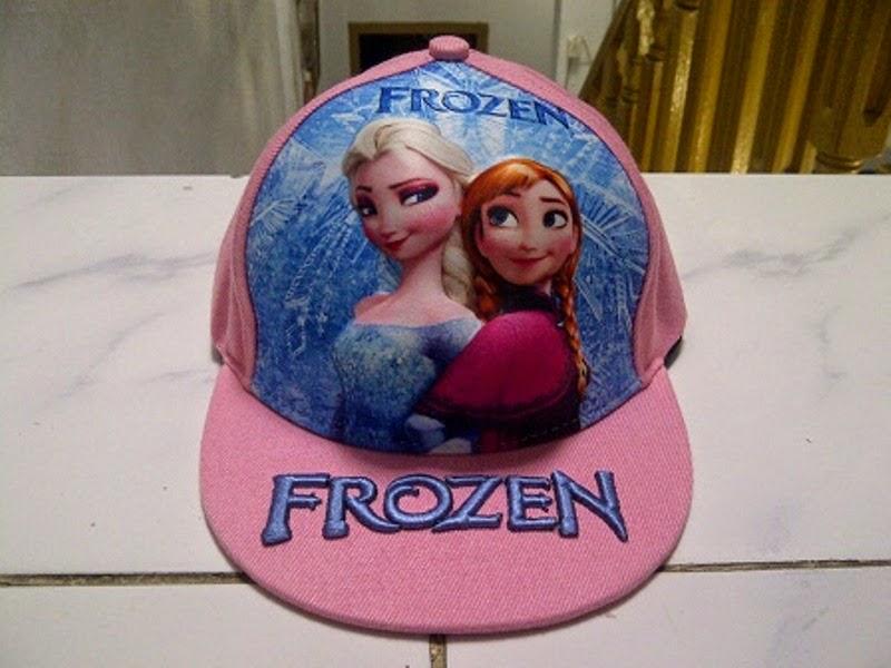 Gambar topi frozen untuk anak warna pink