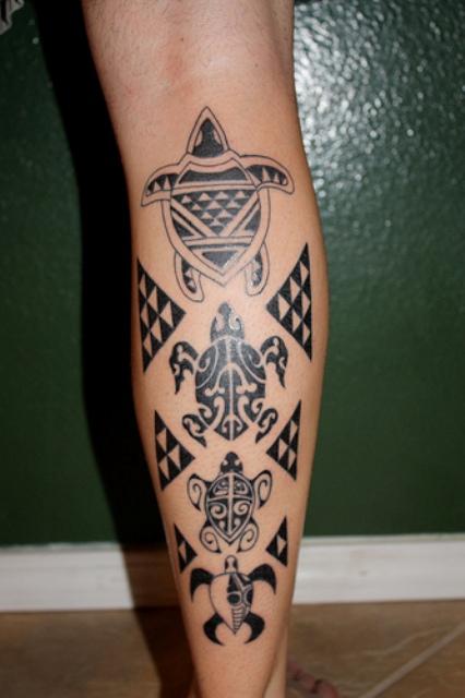Hawaiian Tribal Tattoos Design