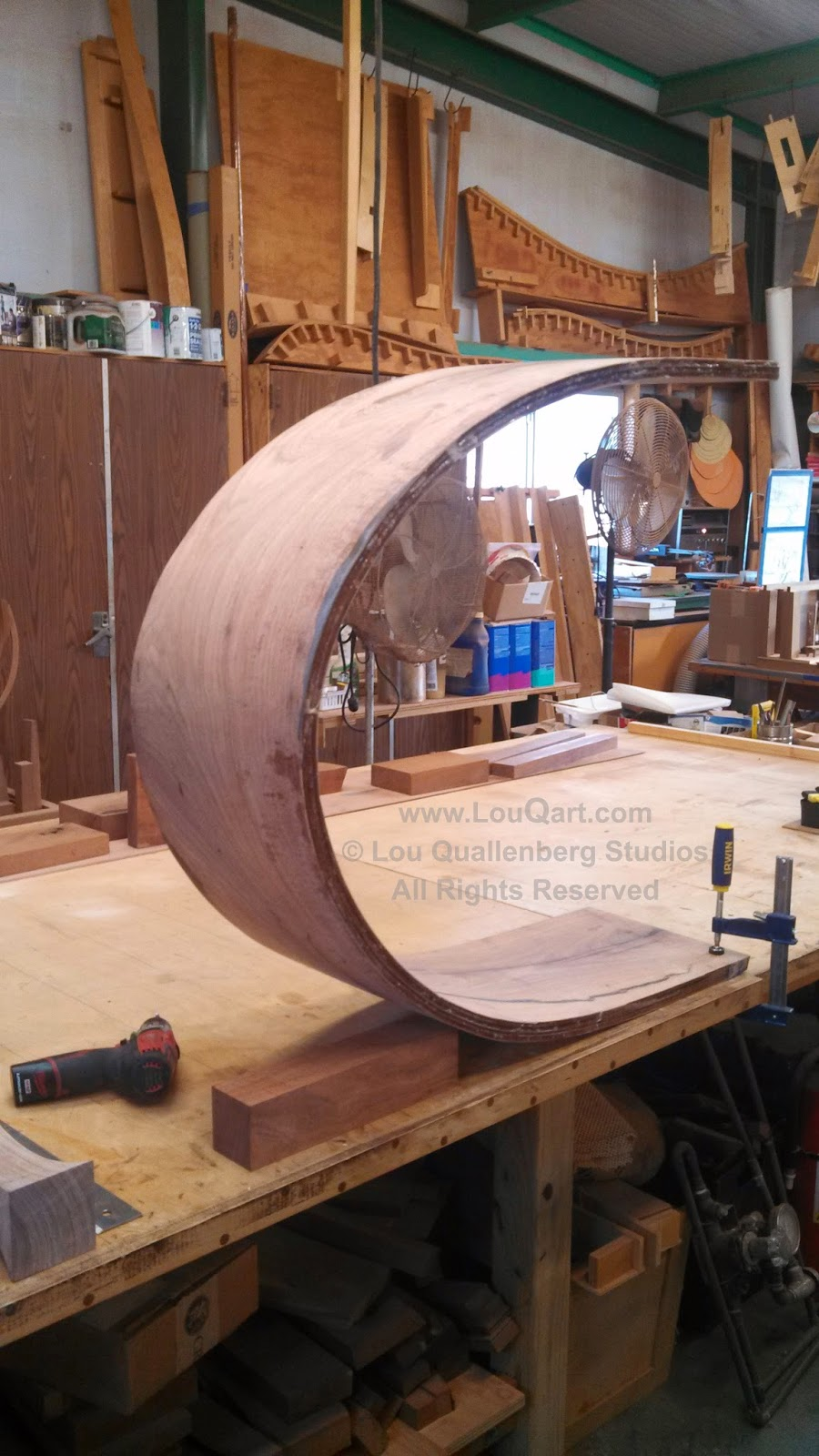 Laminated Mesquite Curve by Lou Qualleneberg