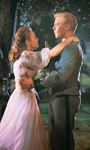 Sound of Music, 16 going on 17, Liesl, musical, Liesl  purple dress, Liesl and Frederick, Liesl and Frederick embrace, hug