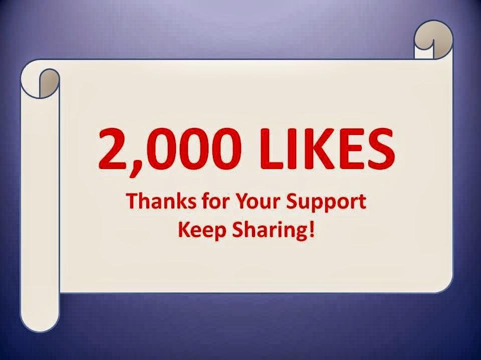 Vă mulţumesc pentru primele 2000 de Like-uri la pagina blogului Florin Chindea - Running Blog!