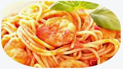 Spaghete cu cremă de creveţi
