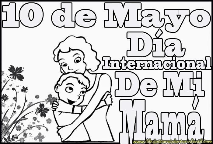Dibujos para colorear - 10 de mayo día de las madres
