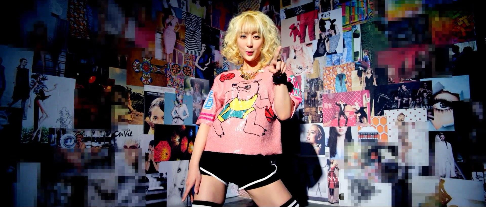 EXID's Hyerin in Ah Yeah MV