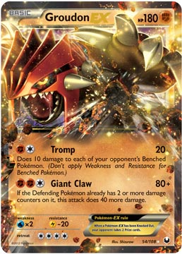 groudon ex dark explorers pokemon card review