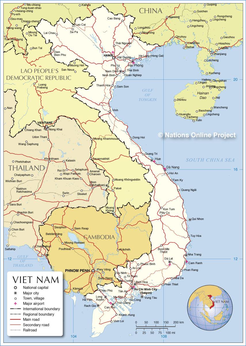 Socialist Republic Of Vietnam Map HD World Maps - World map in vietnamese