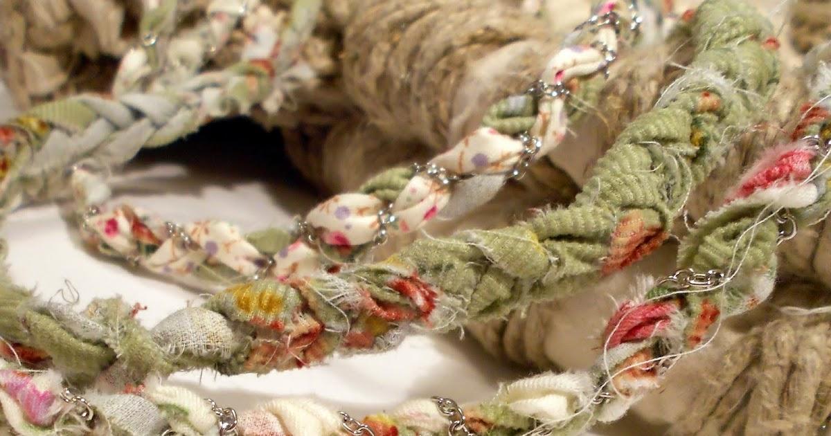 Is laura collana in stoffa e catena - Tessuti fiorati ...