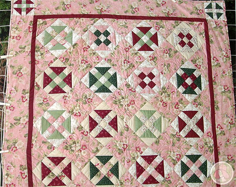 Bloque de patchwork La rueda de la manteca