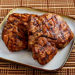 Recipe for Grilled Ginger-Soy Pork Chops | Kalyn's Kitchen®