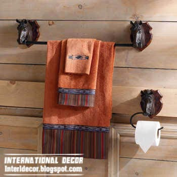 Rustic decor and accessories for small bathroom