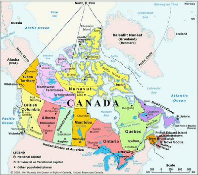 Map of Canada Cities