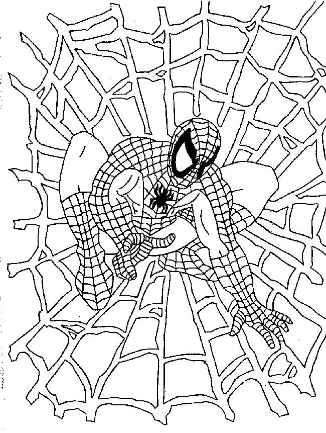 My picture spiderman coloring page for Spiderman da colorare pdf