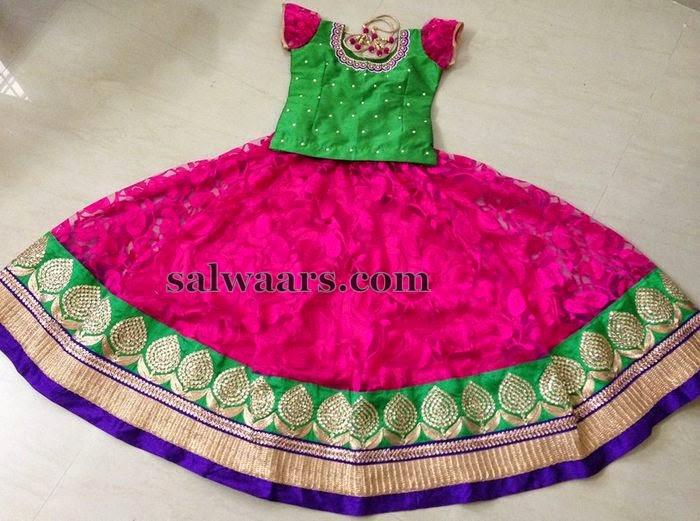 Pink Brasso Skirt 4600 rupees