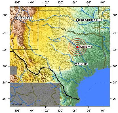 Northern texas earthquake 2012 july 13