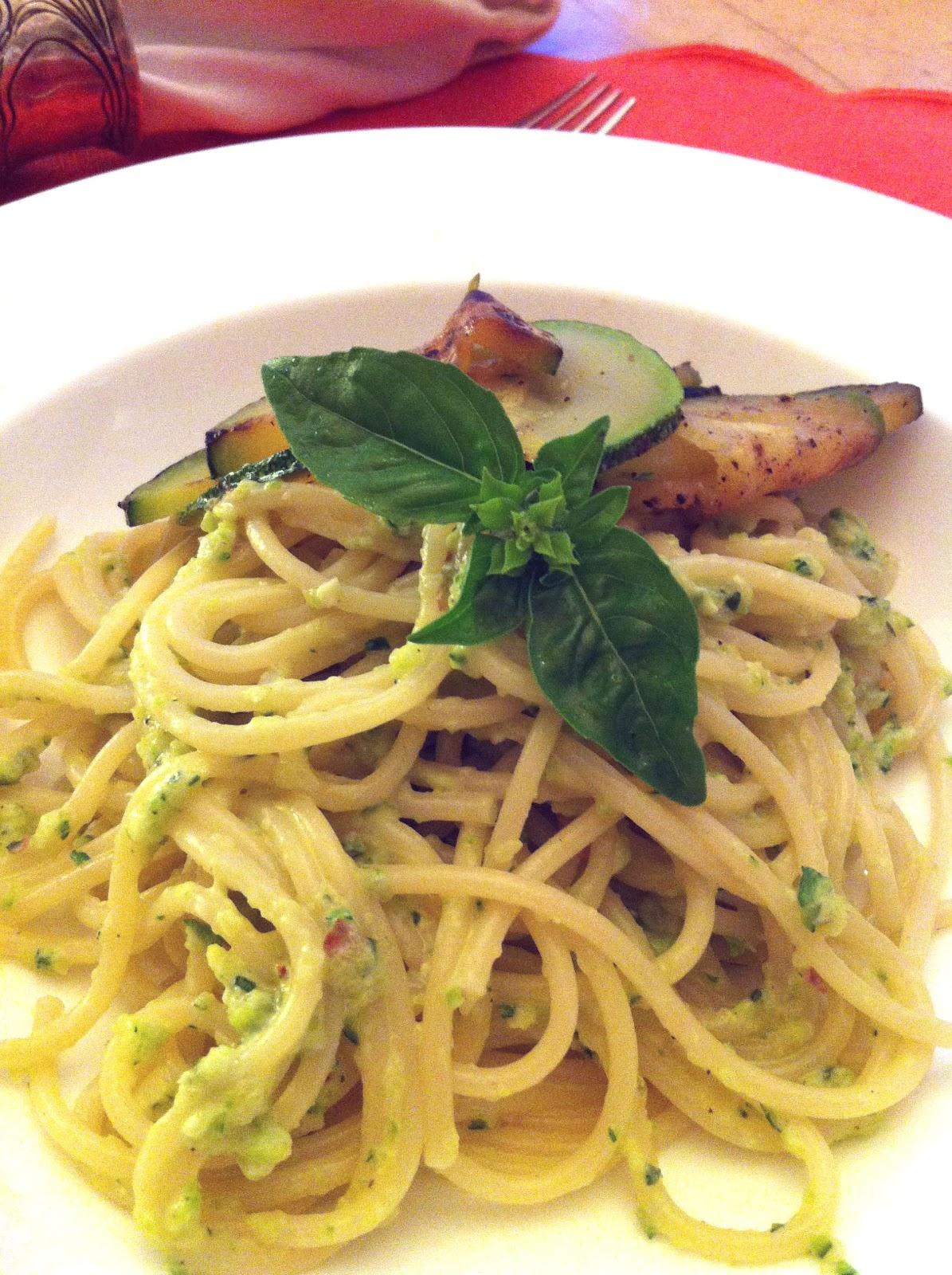 Cuisiner bien spaghetti mit zucchini pesto - Cuisiner courgette spaghetti ...