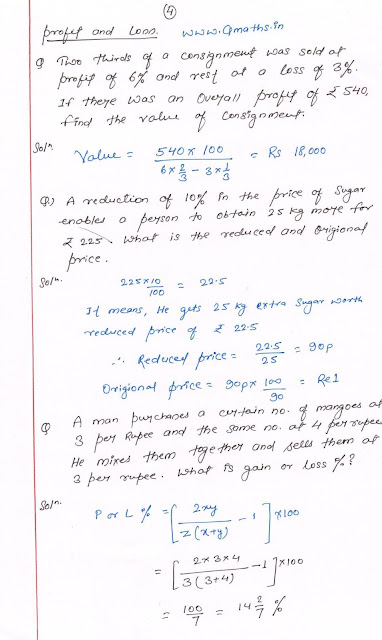 Profit Loss quick revision 4