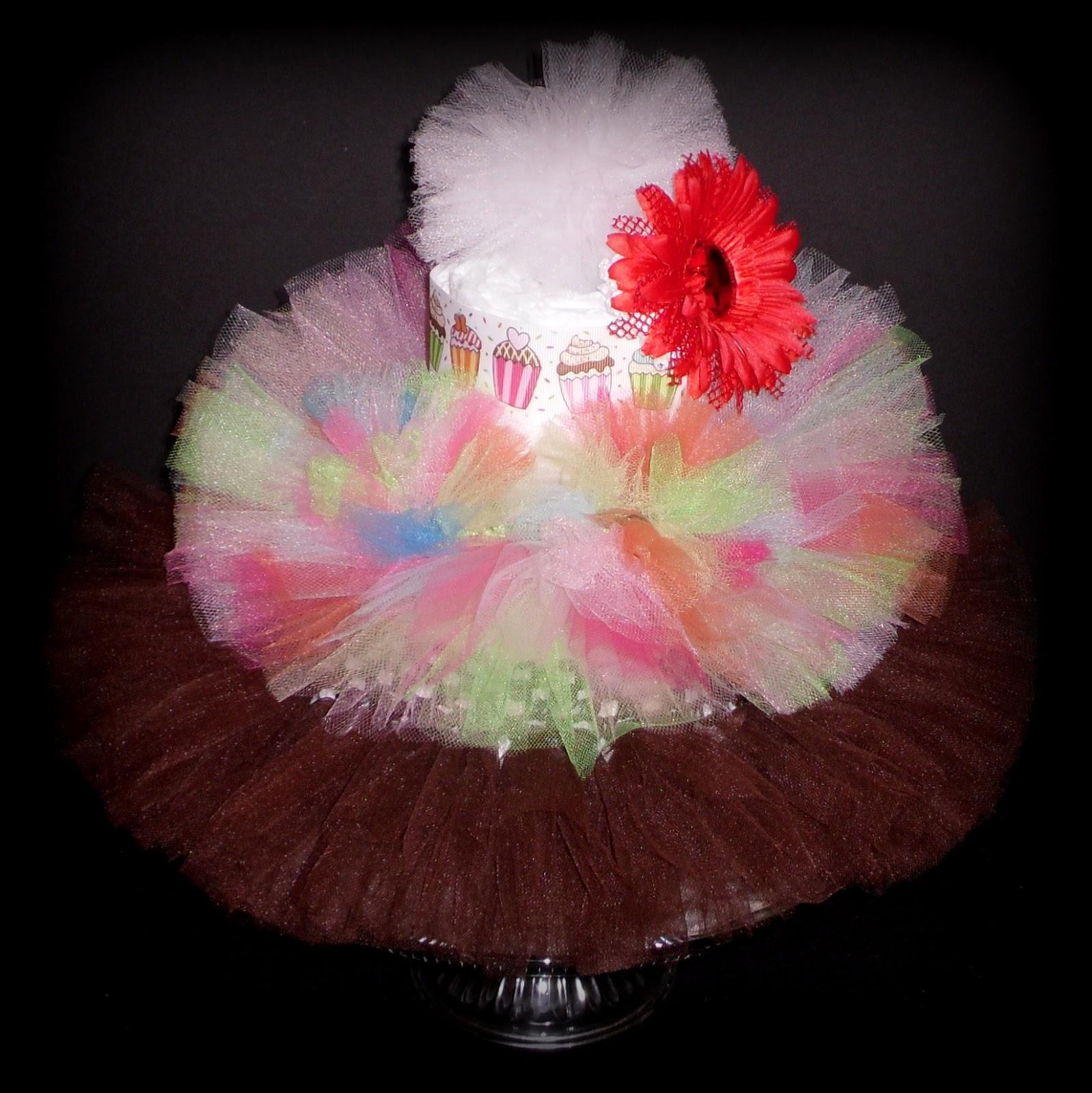 details about newborn tutu baby shower gift diaper cake princess pink