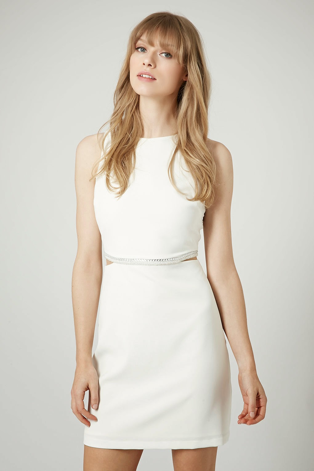 white diamante dress, white bodycon dress topshop,