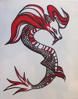 Chinese style dragon art