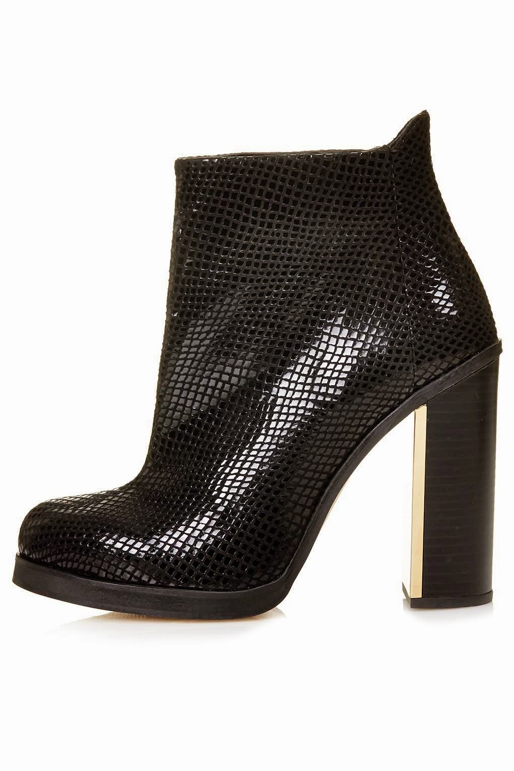 black snake ankle boot,