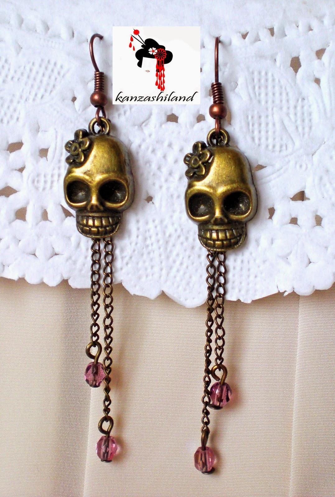 skulls earrings
