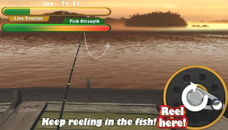 Flick Fishing PSP Game, Gameplay Photo