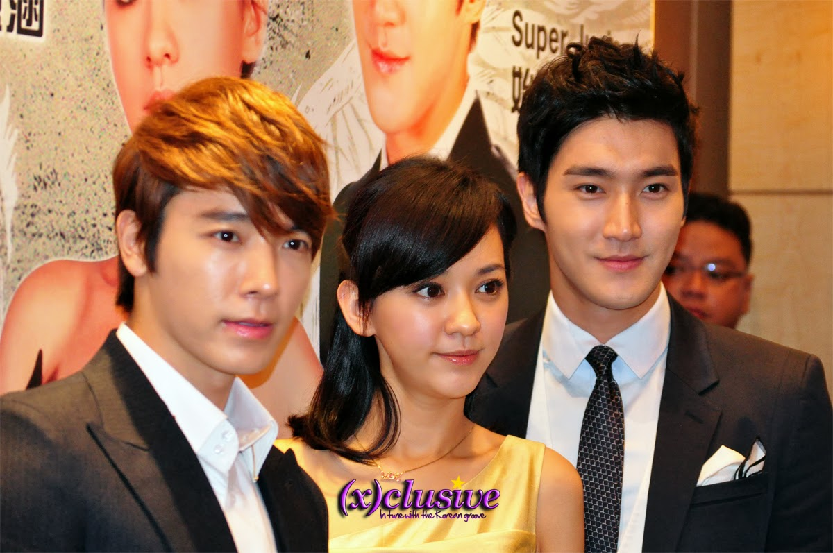 Korean superstars Siwon and Donghae of popular K-pop boy band Super Junior and one of Taiwan's most adored actresses, Ivy Chen