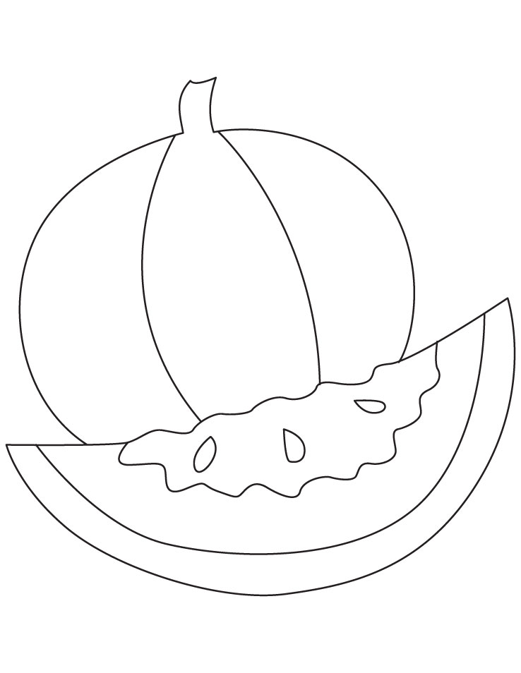 Fruit Watermelon Coloring Sheet