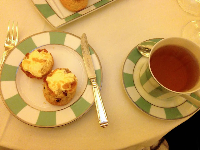 claridge's afternoon tea scone and tea