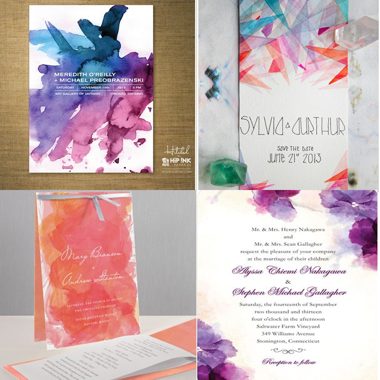 43 Dreamy Watercolor Inspired Wedding Ideas: Bride With A Twist: Artsy Fartsy Watercolor Wedding