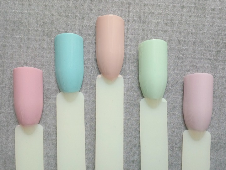Pony X Memebox Pony Nails Pastels Set swatch swatches