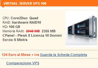 Server Virtuale VIRTUAL SERVER VPS 100