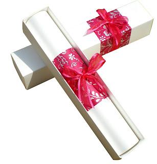 Invitación roja para bodas en papiro