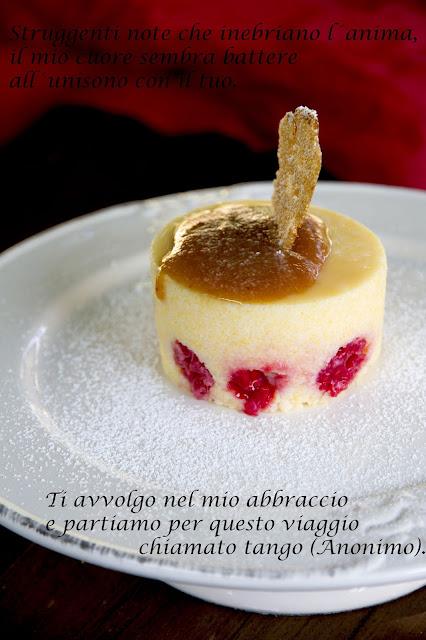polenta dolce ai lamponi con dulce de leche e cialda croccante di amaranto.... e  il contest dell'estate