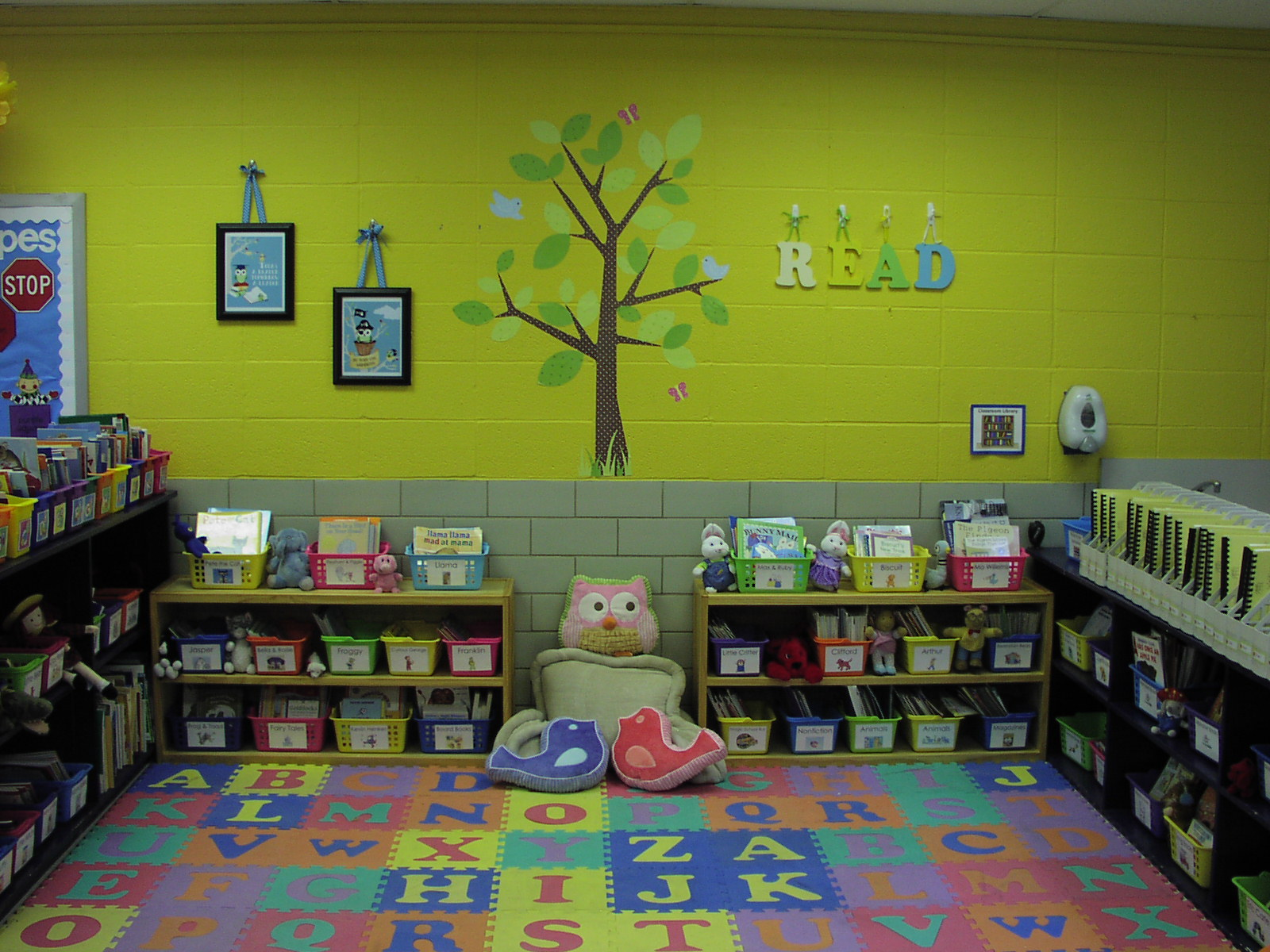 here is my classroom library it is my favorite part of the room