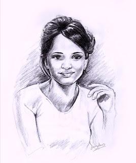 Lady Pencil Portrait jaydevanimator