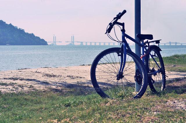 basikal tepi pantai, pulau pinang, penang