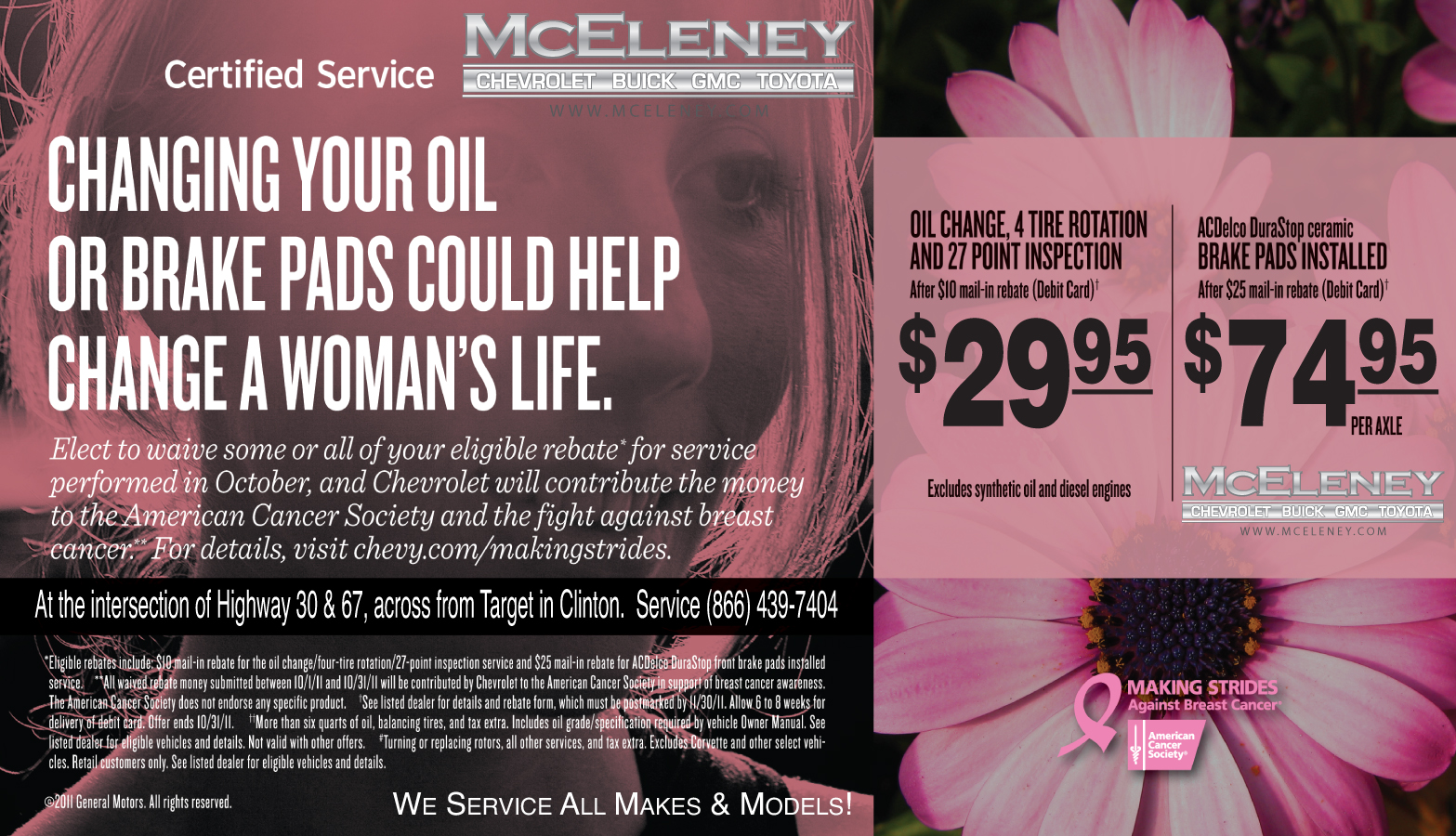 Mceleney Chevrolet Buick Gmc Toyota Join Us In The Fight