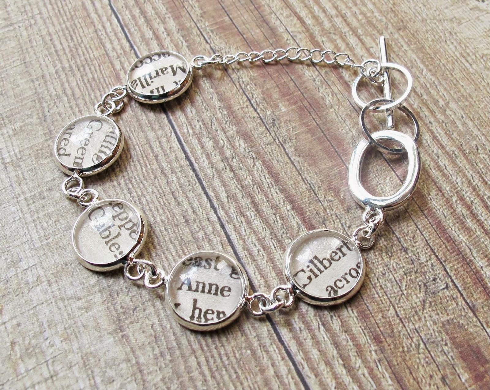 image jewellery jewelry two cheeky monkeys literature bracelet silver anne of green gables gilbert blythe