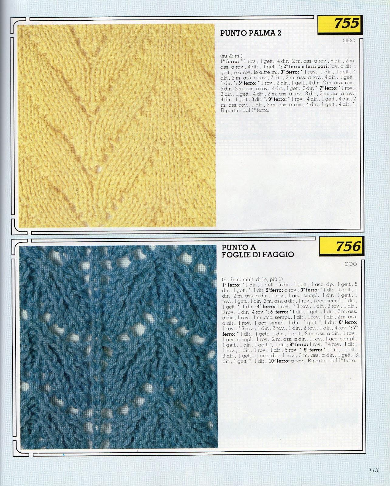Collezione punti ai ferri 13 / Knitting stitches collection 13