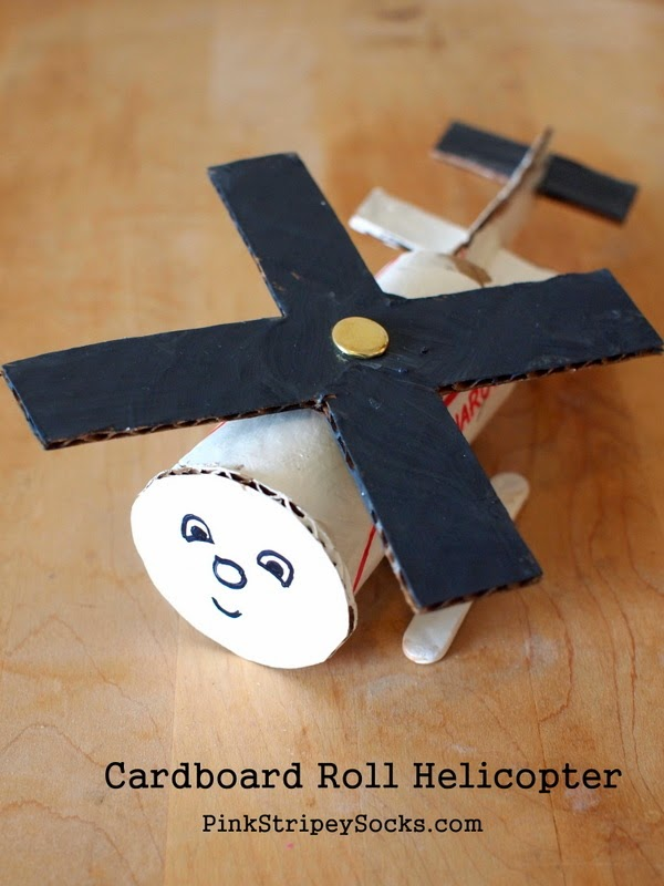 cardboard roll helicopter kids' craft