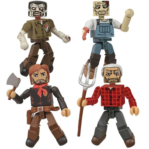 "San Diego Comic-Con 2013 Exclusive The Walking Dead ""Hershel's Farm"" Minimates Box Set - Deputy Rick Grimes, Hershel Green & Two Farm Zombies"